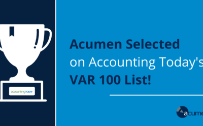Accounting Today's VAR 100 for 2021 Announced: Acumen Selected as a Member