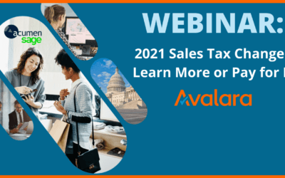 2021 Sales Tax Changes – Learn More or Pay for It