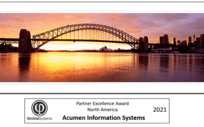 Orchid Systems Announce Acumen with the 2021 Partner Excellence Award