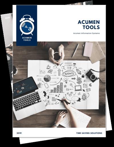 Acumen Tools Catalog Cover
